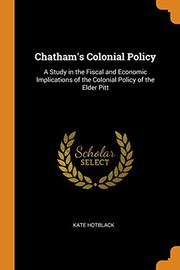 Chathams Colonial Policy