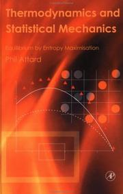 Thermodynamics and Statistical Mechanics by Phil Attard