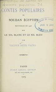 Contes populaires du Soudan égyptien