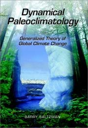 Dynamical paleoclimatology by Barry Saltzman