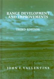 Range development and improvements by John F. Vallentine