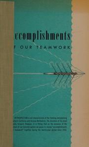 Accomplishments of our teamwork