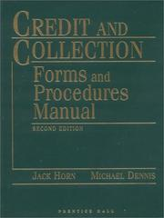 Credit and collection forms and procedures manual PDF