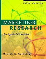 Marketing research by Naresh K. Malhotra