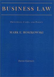 Business law by Mark E. Roszkowski