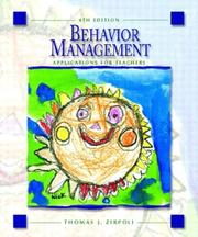 Behavior management by Thomas J. Zirpoli