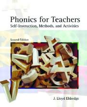 Phonics for Teachers by J. Lloyd Eldredge