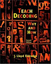 Teach Decoding by J. Lloyd Eldredge