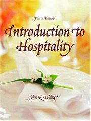 Introduction to hospitality by Walker, John R.