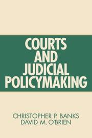 Cover of: Courts and Judicial Policymaking by David M. O'Brien