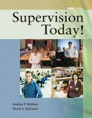 Supervision today! by Stephen P. Robbins