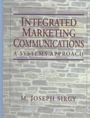 Integrated Marketing Communications by M. Joseph Sirgy