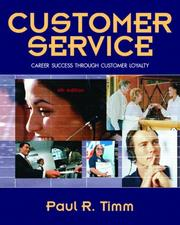 Customer Service by Paul R. Timm