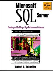 Microsoft SQL Server by Robert D. Schneider