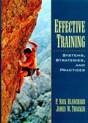 Effective training by P. Nick Blanchard