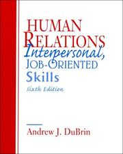 Human relations by Andrew J. DuBrin