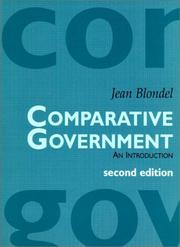 Comparative government by Blondel, Jean