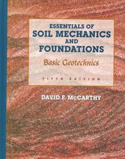 Essentials of Soil Mechanics and Foundations by David F. McCarthy