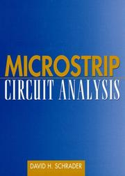 Microstrip circuit analysis by David H. Schrader