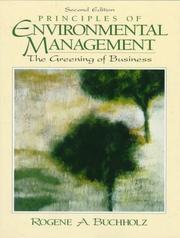 Principles of environmental management PDF