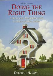 Doing the Right Thing by Deborah H. Long