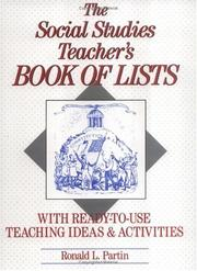 The Social Studies Teacher's Book of Lists by Ronald L. Partin