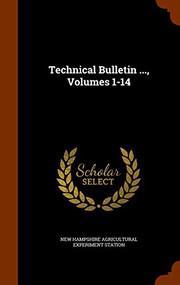 Technical Bulletin ..., Volumes 1-14