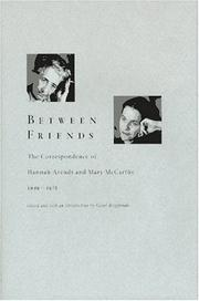 Between Friends by Hannah Arendt