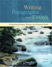 Writing paragraphs and essays by Joy Wingersky