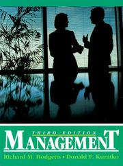 Management by Hodgetts, Richard M.