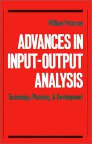 Advances in Input-Output Analysis PDF