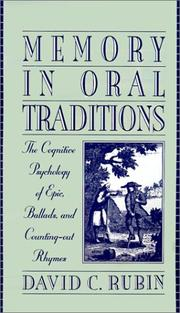 Memory in oral traditions by David C. Rubin