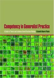 Competency in Generalist Practice by Elizabeth Moore Plionis