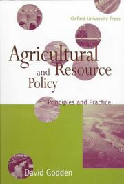 Agricultural and resource policy PDF