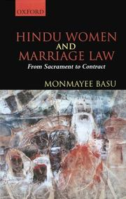 Hindu Women and Marriage Law by Monmayee Basu