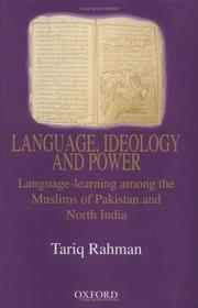 Language, ideology and power by Tariq Rahman