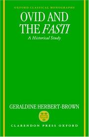 Ovid and the Fasti by Geraldine Herbert-Brown