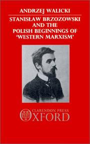 "Cover of: Stanisław Brzozowski and the Polish beginnings of ""Western Marxism"" by Andrzej Walicki"