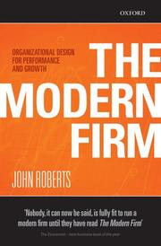 The Modern Firm, John Roberts, Toby Elwin, influence