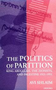 The politics of partition by Avi Shlaim