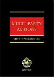 Multi-Party Actions PDF