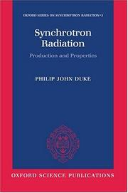 Synchrotron radiation by P. J. Duke