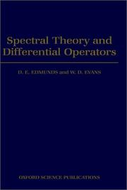 Spectral theory and differential operators PDF