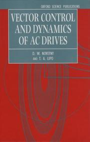 Vector control and dynamics of AC drives PDF