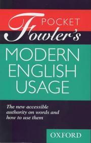 Pocket Fowler's Modern English Usage PDF