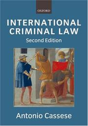 International Criminal Law by Antonio Cassese