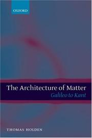 The Architecture of Matter PDF