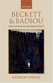 Beckett and Badiou by Andrew Gibson