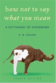 How not to say what you mean by R. W. Holder