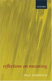 Reflections on meaning PDF
